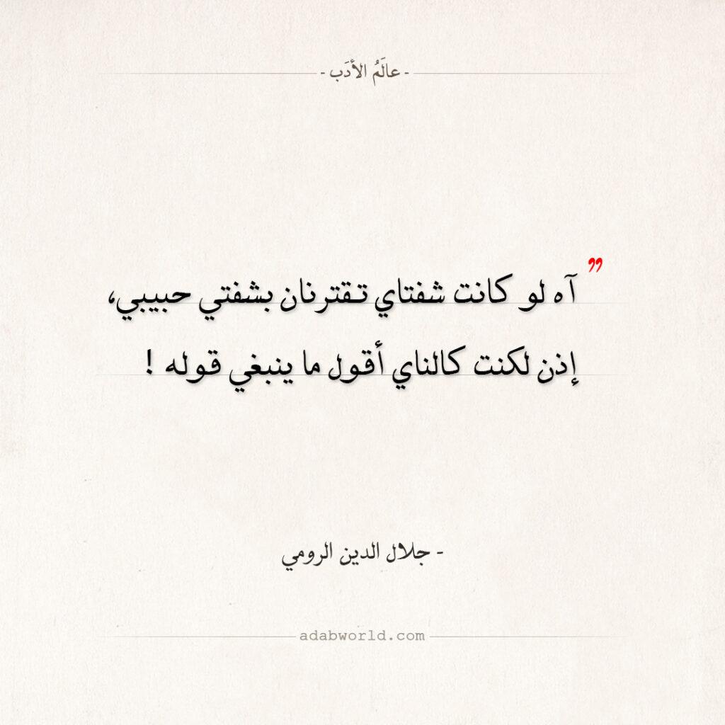 اقتباسات جلال الدين الرومي - كالناي أقول