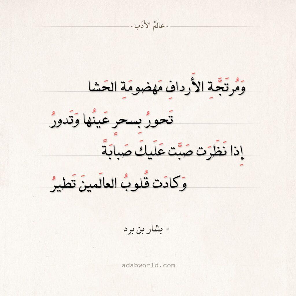 شعر بشار بن برد - ومرتجة الأرداف مهضومة الحشا